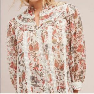 Like New! Feather Bone Floral Elena Top